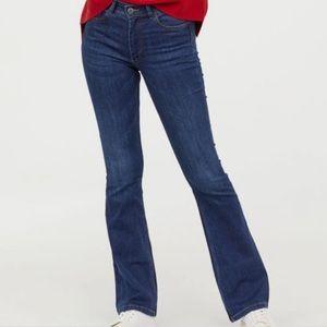 H&M mini flare jeans/ regular waist/ size 10